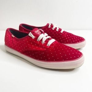 Keds by Taylor swift champion red velvet sneakers